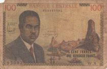 Cameroon 100 Francs Pdt Ahidjo - 1962 - Serial W.8 - P.10 - Good