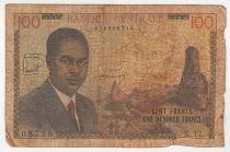 Cameroon 100 Francs Pdt Ahidjo - 1962 - Serial X.12