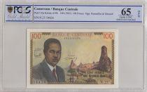 Cameroon 100 Francs Pdt Ahidjo - Boats - 1962 - PCGS 65 OPQ