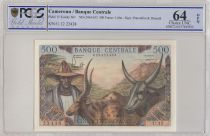 Cameroon 500 Francs Animal husbandry, Agriculture - 1962 - PCGS 64