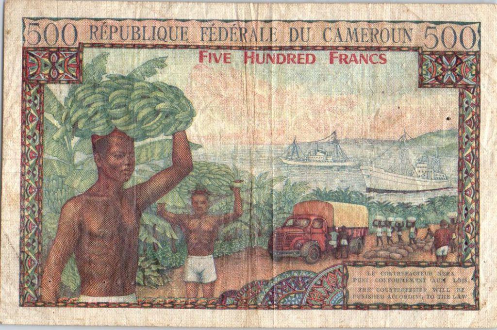 Cameroon 500 Francs Animal husbandry, Agriculture - 1962