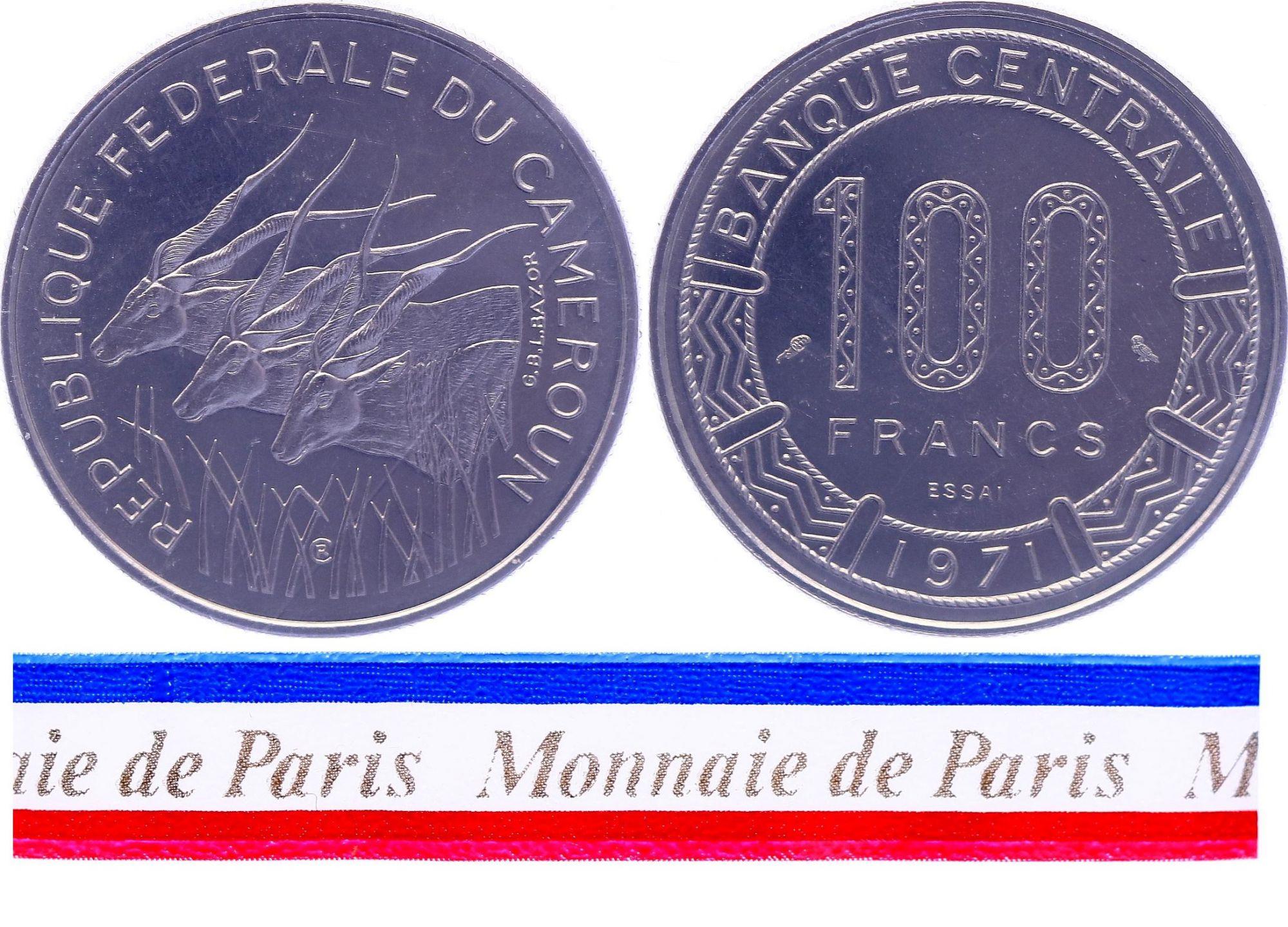 Cameroun 100 Francs - 1971 - Essai