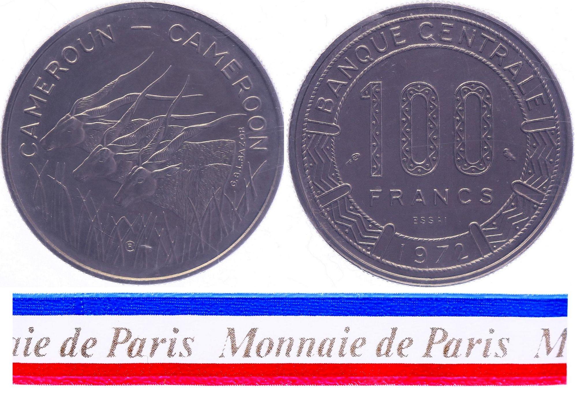 Cameroun 100 Francs - 1972 - Essai