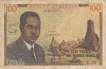 Cameroun 100 Francs ND1962 - Pdt Ahidjo, Bateaux - Série G.24