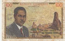 Cameroun 100 Francs ND1962 - Président Ahidjo, village, bateaux - Série B.25
