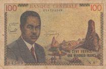 Cameroun 100 Francs ND1962 - Président Ahidjo, village, bateaux