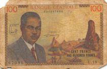 Cameroun 100 Francs Pdt Ahidjo - 1962 Série K.5 - B