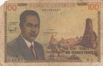 Cameroun 100 Francs Pdt Ahidjo - 1962 Série N.1