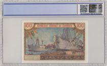 Cameroun 100 Francs Pdt Ahidjo - Bateaux - 1962 - PCGS 65 OPQ