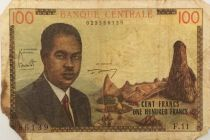 Cameroun 100 Francs Pdt Ahidjo - Bateaux - 1962 - Série F.11 - B