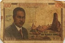 Cameroun 100 Francs Pdt Ahidjo - Bateaux - 1962 - Série P.15 - B