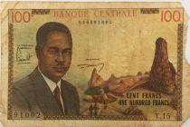 Cameroun 100 Francs Pdt Ahidjo - Bateaux - 1962 - Série T.15 - B