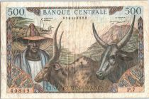 Cameroun 500 Francs Elevage, Agriculture - 1962