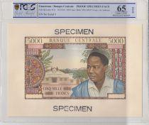 Cameroun 5000 Francs Epreuve recto - 1961 - P.8 - PCGS 65 OPQ