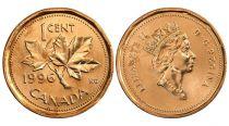 Canada 1 Cent . Feuilles d\'Erable