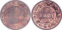 Canada 1 Cent, Queen Victoria - 1859