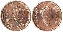 Canada 1 Cent Feuilles d\'Erable