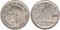 Canada 10 Cents 1940 - George VI - Argent