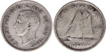 Canada 10 Cents 1942 - George VI - Argent