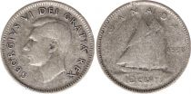 Canada 10 Cents 1950 - George VI - Argent