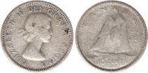 Canada 10 Cents 1955 - Elisabeth II - Argent