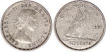 Canada 10 Cents 1957 - Elisabeth II - Argent