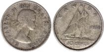 Canada 10 Cents 1958 - Elisabeth II - Argent