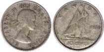 Canada 10 Cents 1958 - Elisabeth II - Argent