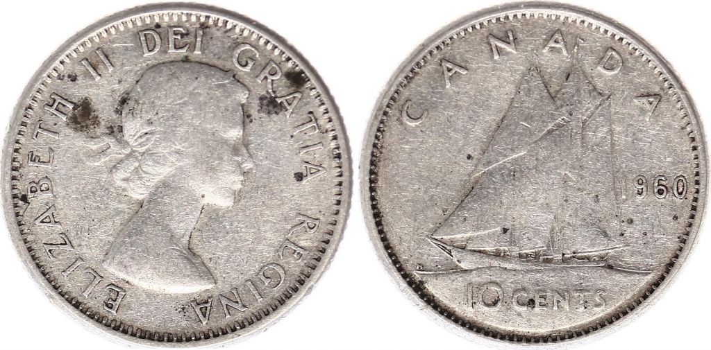Canada 10 Cents 1960 - Elizabeth II - Argent