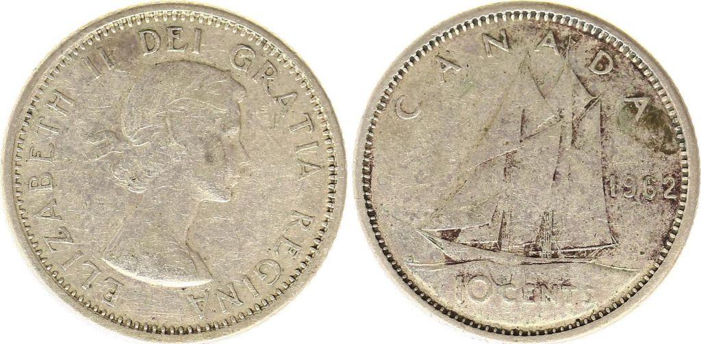 Canada 10 Cents 1962 - Elizabeth II - Argent