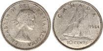 Canada 10 Cents 1964 - Elisabeth II - Argent