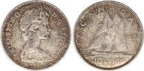 Canada 10 Cents 1966 - Elisabeth II - Argent