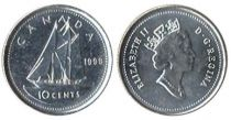 Canada 10 Cents Sailboat Bluenose