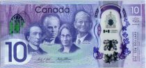 Canada 10 Dollars 150 years of the Confederation of Canada - Polymer - 2017