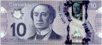 Canada 10 Dollars Sir John A. Macdonald - Polymer - 2013 (2015) - UNC  - P.107c