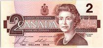 Canada 2 Dollars, Elizabeth II - Oiseaux - 1986