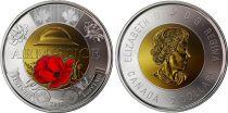 Canada 2 Dollars Elisabeth II - Armistice 1914-1918 - Colorisée
