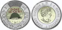 Canada 2 Dollars Elisabeth II - D DAY - 2019 colorisé