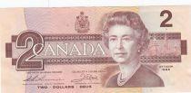 Canada 2 Dollars EliZabeth II - 1986 - P.94b - XF Serial BGW