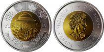 Canada 2 Dollars Elizabeth II - Armistice 1918 - Bimetal