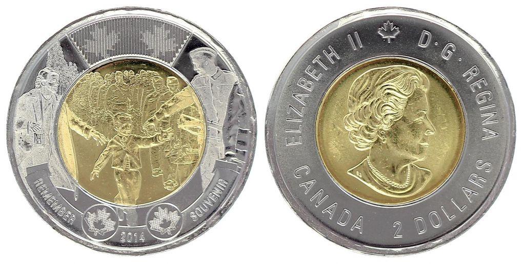 Canada 2 Dollars Elizabeth II - Wait for me Daddy - 2014