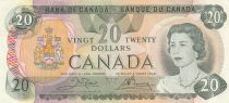 Canada 20 Dollars 1979 Elisabeth II - Armoiries, lac, mountagnes, sign. Crow-Bouey 2ème ex.