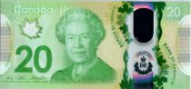 Canada 20 Dollars Elisabeth II - Regne historique 2015