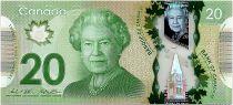 Canada 20 Dollars Elizabeth II - Monument - Polymer 2012 (2014) -  UNC - P.108b