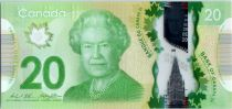 Canadá 20 Dollars Elizabeth II - Monument - Polymer 2012 (2014)