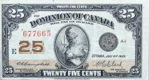 Canada 25 Cent Britannia - 1923 - Série E