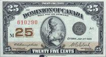 Canada 25 Cent Britannia - 1923 - Série M