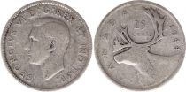 Canada 25 Cents 1944 - George VI - Argent