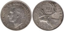 Canada 25 Cents 1952 - George VI - Argent