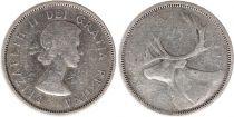 Canada 25 Cents 1956 -  Elisabeth II - Silver